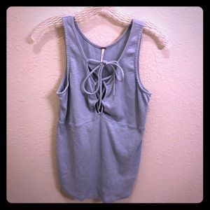 Free People Baby Blue Tank